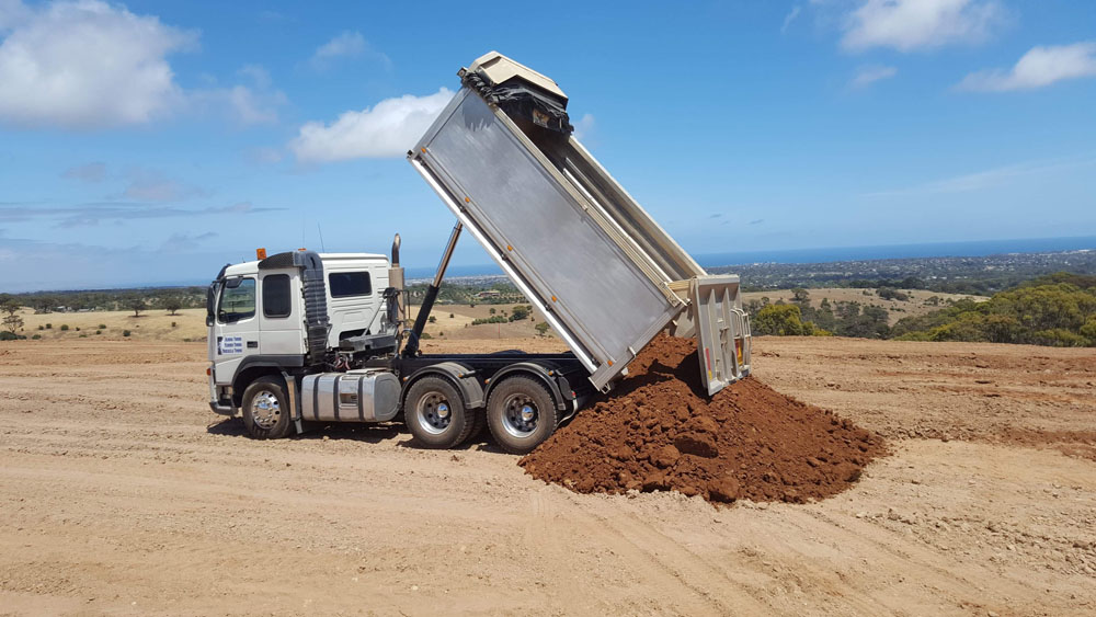 Tandem Tippers for site clean ups