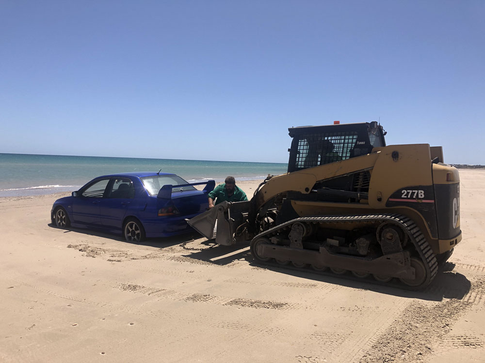 Recovery towing from Christies Beach in Adelaide