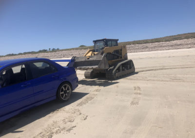 Our team towing this vehicle from an Adelaide beach