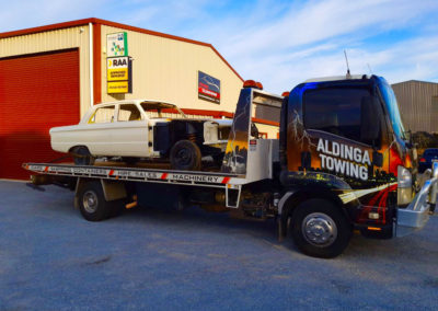 Towing a Ford being being restored in Adelaide Western suburbs
