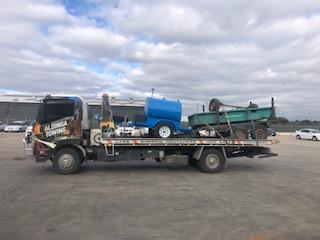 Trailers being towed to Pooraka