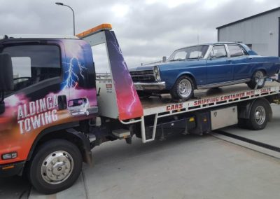 Towing a classic car from McLaren Vale