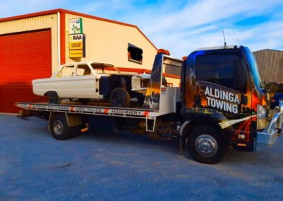 Towing a Ford that is being restored in Adelaide Western suburbs