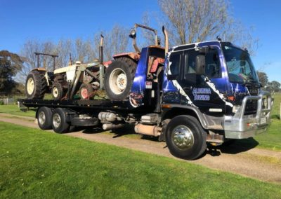 Travelling throughout South Australia - A load of tractors from Glencoe last month