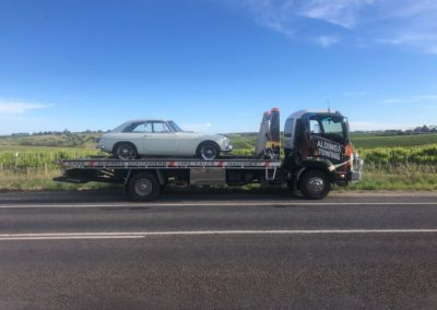 We transported this little MG from Lonsdale to McLaren Vale a while ago after it had been restored